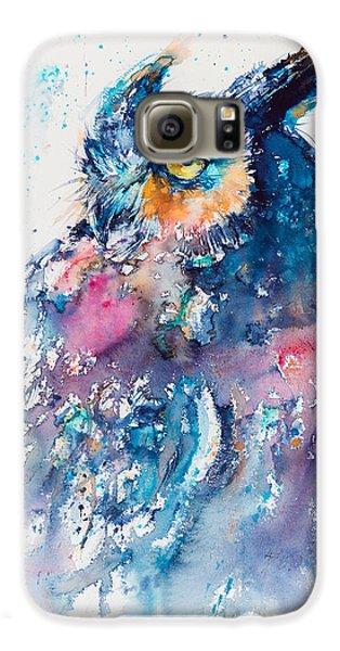 Great Horned Owl Galaxy S6 Case by Kovacs Anna Brigitta