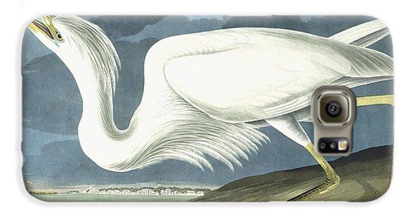 Great White Heron Galaxy S6 Case by John James Audubon