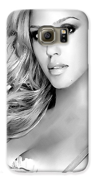 #1 Jessica Alba Galaxy S6 Case by Alan Armstrong