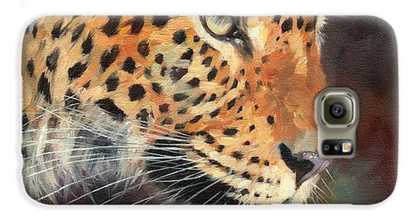 Leopard Galaxy S6 Case by David Stribbling