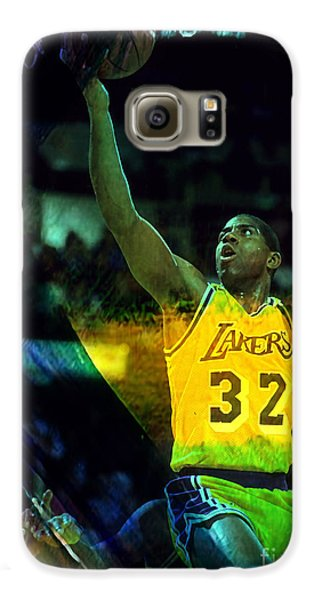 Magic Johnson Galaxy S6 Case by Marvin Blaine