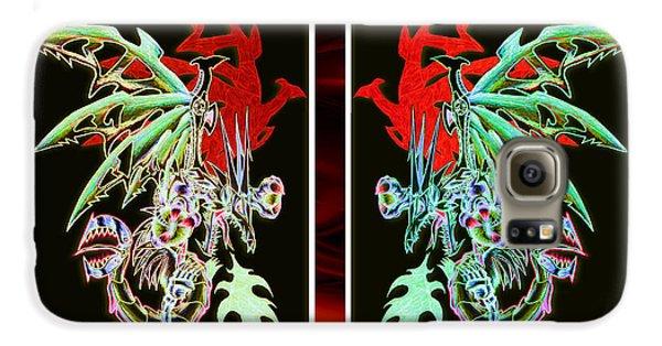 Mech Dragons Pastel Galaxy S6 Case by Shawn Dall
