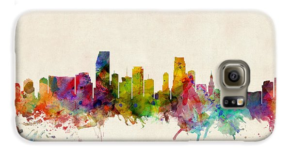 Miami Florida Skyline Galaxy S6 Case by Michael Tompsett