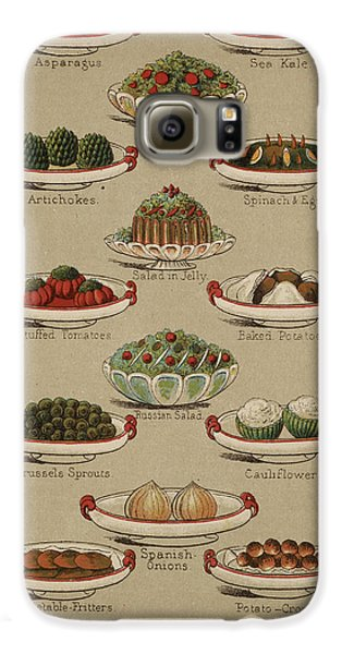 Mrs. Beeton's Family Cookery And Housekee Galaxy S6 Case by British Library
