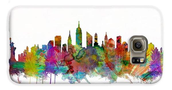 New York City Skyline Galaxy S6 Case by Michael Tompsett