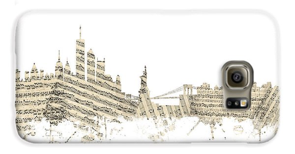 Philadelphia Pennsylvania Skyline Sheet Music Cityscape Galaxy S6 Case by Michael Tompsett