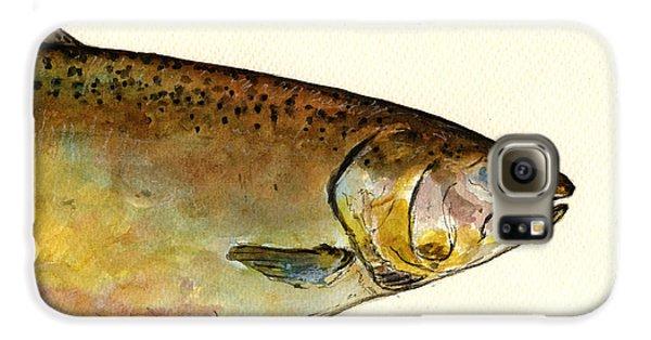 1 Part Chinook King Salmon Galaxy S6 Case by Juan  Bosco