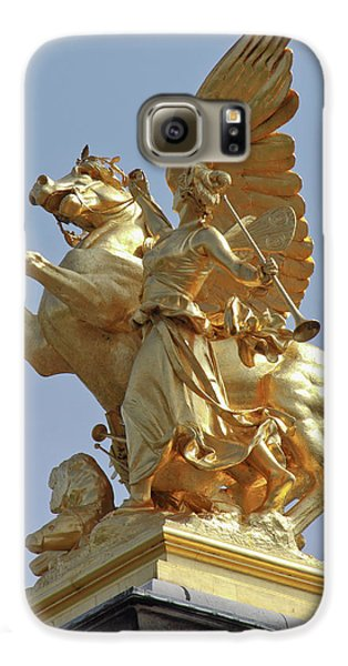 Pegasus Statue At The Pont Alexander Galaxy S6 Case by William Sutton