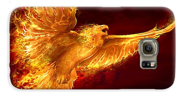 Phoenix Rising Galaxy S6 Case by Tom Wood