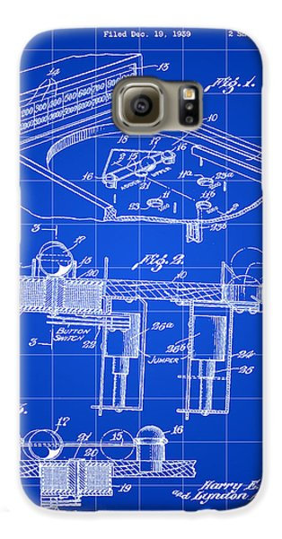 Pinball Machine Patent 1939 - Blue Galaxy S6 Case by Stephen Younts