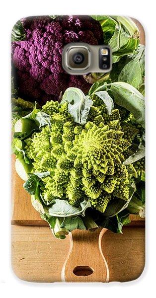 Purple And Romanesque Cauliflowers Galaxy S6 Case by Aberration Films Ltd