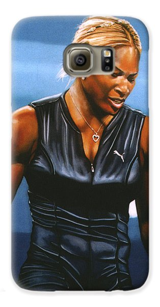 Serena Williams Galaxy S6 Case by Paul Meijering
