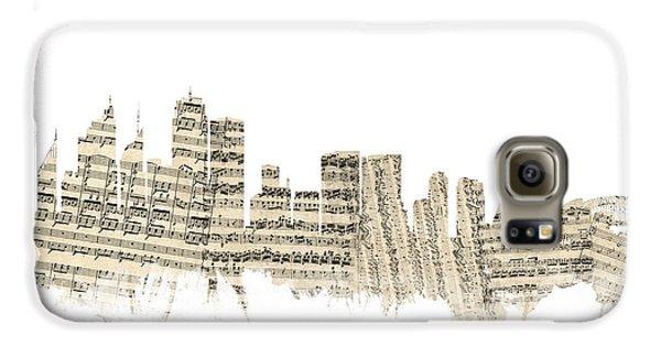 Sydney Australia Skyline Sheet Music Cityscape Galaxy S6 Case by Michael Tompsett