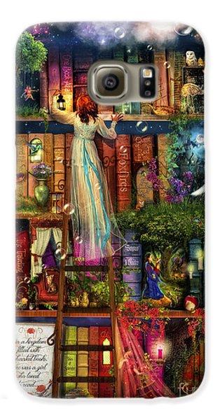 Treasure Hunt Book Shelf Galaxy S6 Case by Aimee Stewart