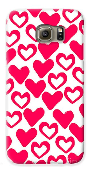 Valentines Day Card Galaxy S6 Case by Louisa Knight