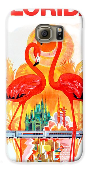 Vintage Florida Travel Poster Galaxy S6 Case by Jon Neidert