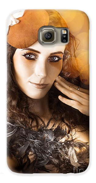 Vintage Style Actress Performing In French Beret Galaxy S6 Case by Jorgo Photography - Wall Art Gallery