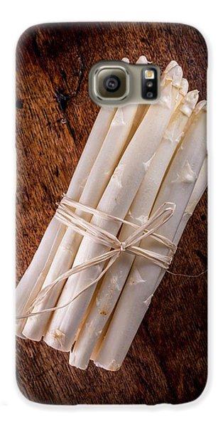 White Asparagus Galaxy S6 Case by Aberration Films Ltd