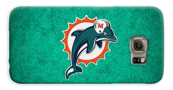 Miami Dolphins Galaxy S6 Case by Joe Hamilton