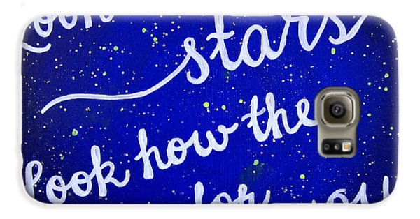 11x14 Look At The Stars Galaxy S6 Case by Michelle Eshleman