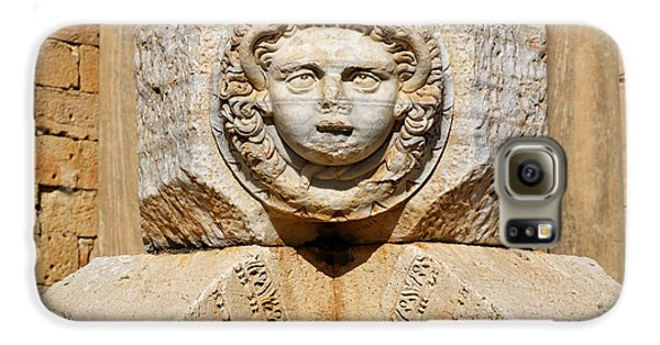 Sculpted Medusa Head At The Forum Of Severus At Leptis Magna In Libya Galaxy S6 Case by Robert Preston