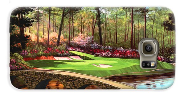 12th Hole At Augusta  Galaxy S6 Case by Tim Gilliland
