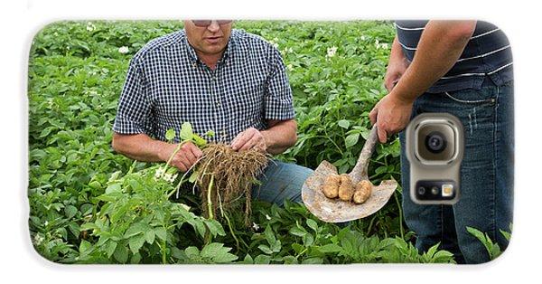 Potato Farming Galaxy S6 Case by Jim West