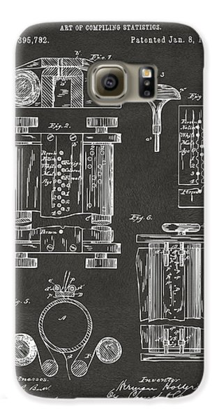 1889 First Computer Patent Gray Galaxy S6 Case by Nikki Marie Smith
