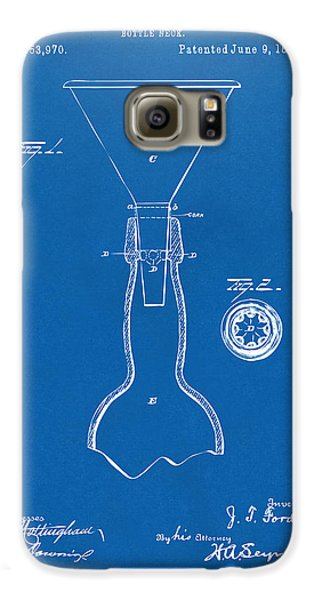 1891 Bottle Neck Patent Artwork Blueprint Galaxy S6 Case by Nikki Marie Smith