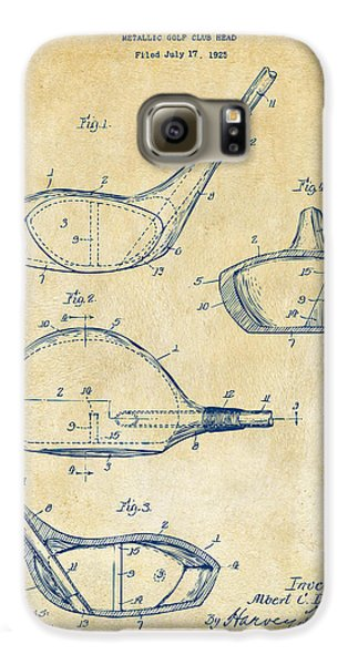 1926 Golf Club Patent Artwork - Vintage Galaxy S6 Case by Nikki Marie Smith