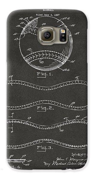 1928 Baseball Patent Artwork - Gray Galaxy S6 Case by Nikki Marie Smith
