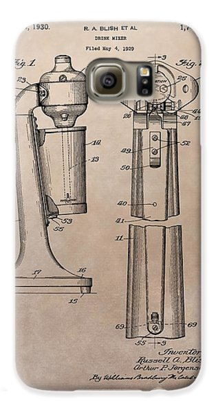 1930 Drink Mixer Patent Galaxy S6 Case by Dan Sproul