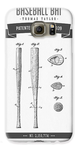 1939 Baseball Bat Patent Drawing Galaxy S6 Case by Aged Pixel