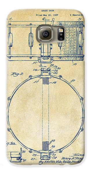 1939 Snare Drum Patent Vintage Galaxy S6 Case by Nikki Marie Smith