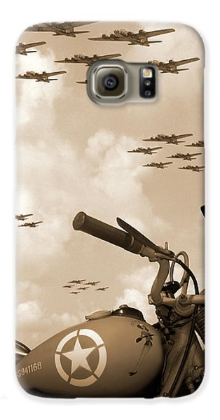 1942 Indian 841 - B-17 Flying Fortress' Galaxy S6 Case by Mike McGlothlen