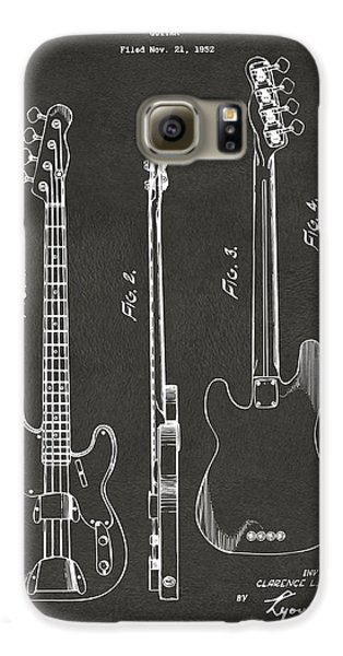 1953 Fender Bass Guitar Patent Artwork - Gray Galaxy S6 Case by Nikki Marie Smith