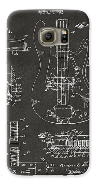 1961 Fender Guitar Patent Artwork - Gray Galaxy S6 Case by Nikki Marie Smith