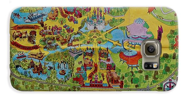 1971 Original Map Of The Magic Kingdom Galaxy S6 Case by Rob Hans