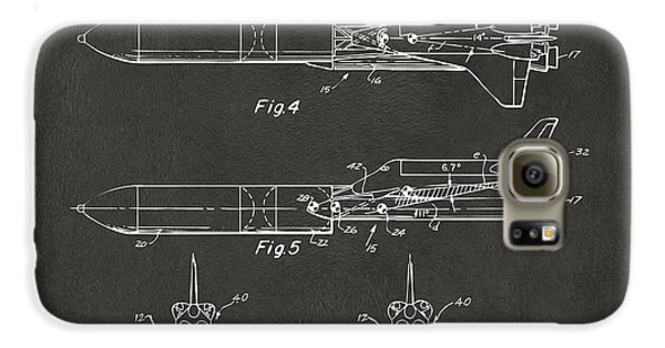 1975 Space Vehicle Patent - Gray Galaxy S6 Case by Nikki Marie Smith