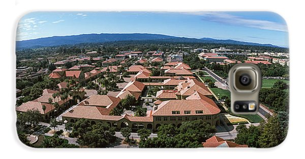 Aerial View Of Stanford University Galaxy S6 Case by Panoramic Images