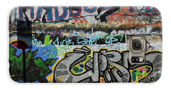 Artistic Graffiti On The U2 Wall Galaxy S6 Case by Panoramic Images