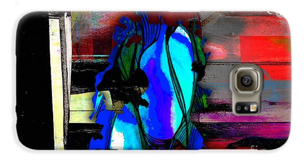 Austin Texas Map Watercolor Galaxy S6 Case by Marvin Blaine