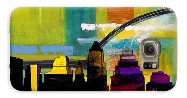 Austin Texas Skyline Watercolor Galaxy S6 Case by Marvin Blaine