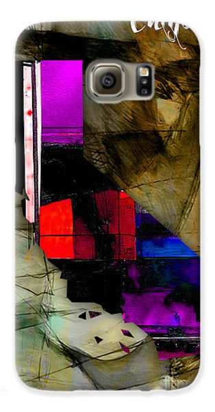 California Map Watercolor Galaxy S6 Case by Marvin Blaine