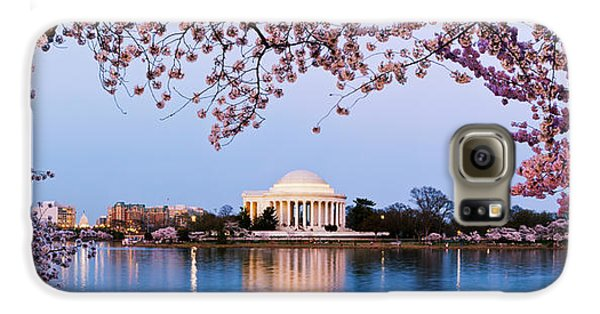 Cherry Blossom Tree With A Memorial Galaxy S6 Case by Panoramic Images