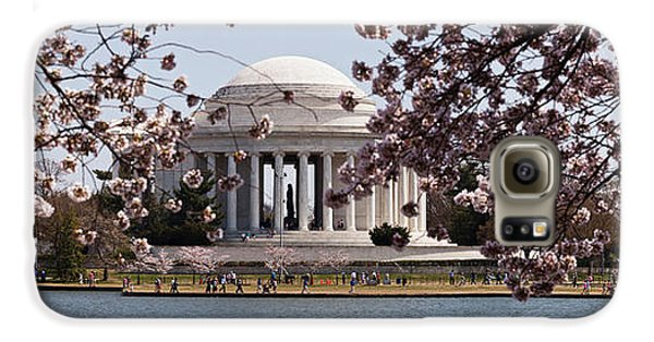 Cherry Blossom Trees In The Tidal Basin Galaxy S6 Case by Panoramic Images