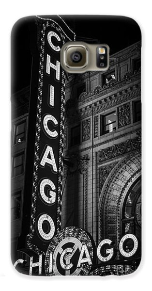 Chicago Theatre Sign In Black And White Galaxy S6 Case by Paul Velgos