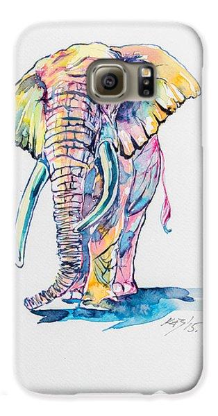 Colorful Elephant Galaxy S6 Case by Kovacs Anna Brigitta