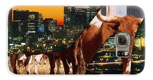 Dallas Texas Skyline Galaxy S6 Case by Marvin Blaine