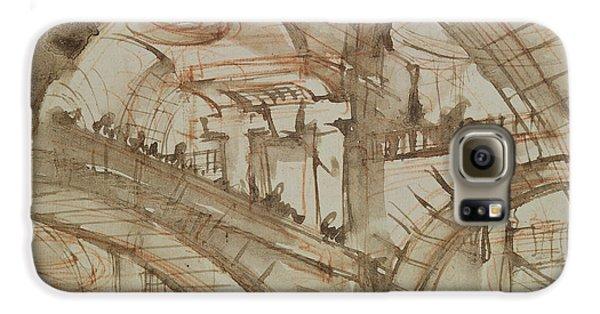 Drawing Of An Imaginary Prison Galaxy S6 Case by Giovanni Battista Piranesi